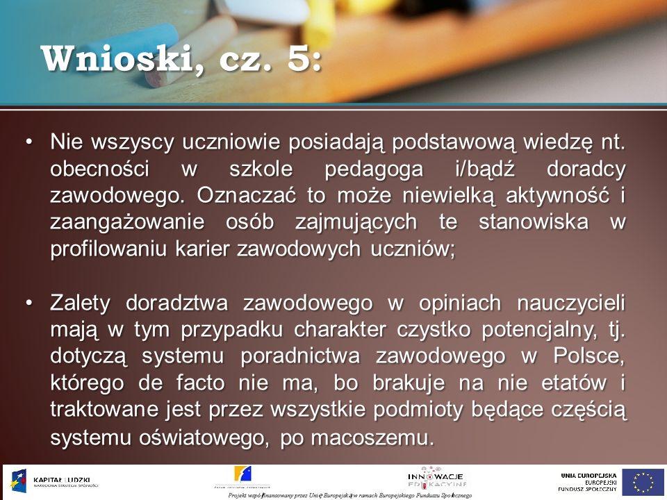 Wnioski, cz. 5:
