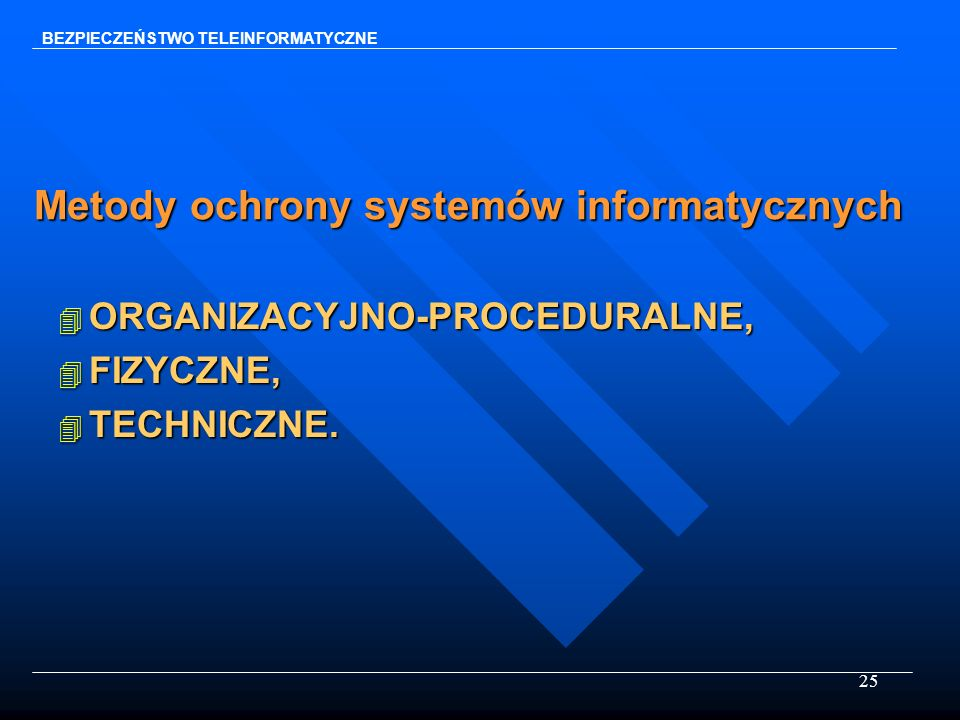 Metody ochrony systemów informatycznych