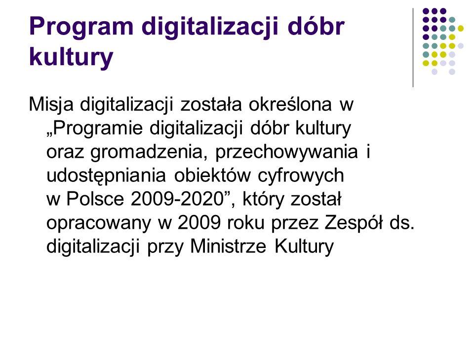 Program digitalizacji dóbr kultury