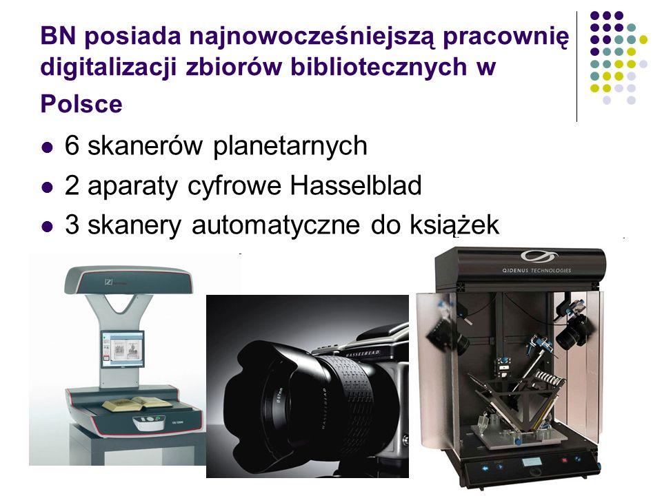 6 skanerów planetarnych 2 aparaty cyfrowe Hasselblad