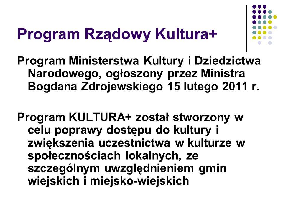 Program Rządowy Kultura+
