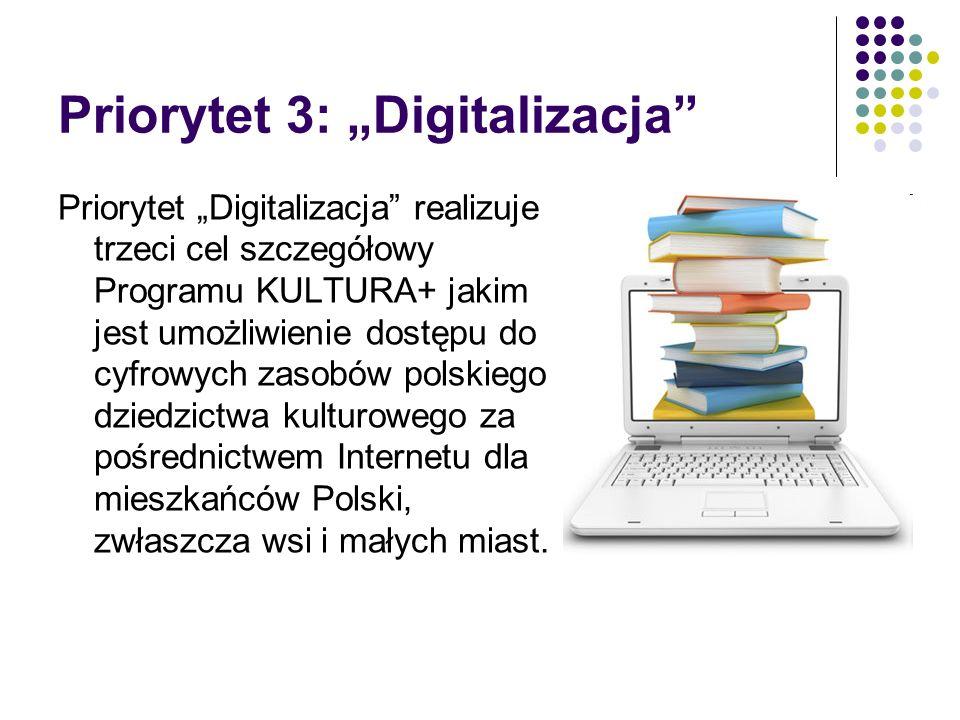 "Priorytet 3: ""Digitalizacja"