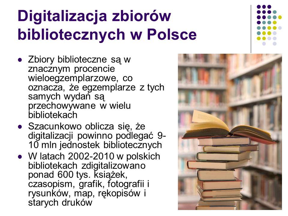 Digitalizacja zbiorów bibliotecznych w Polsce