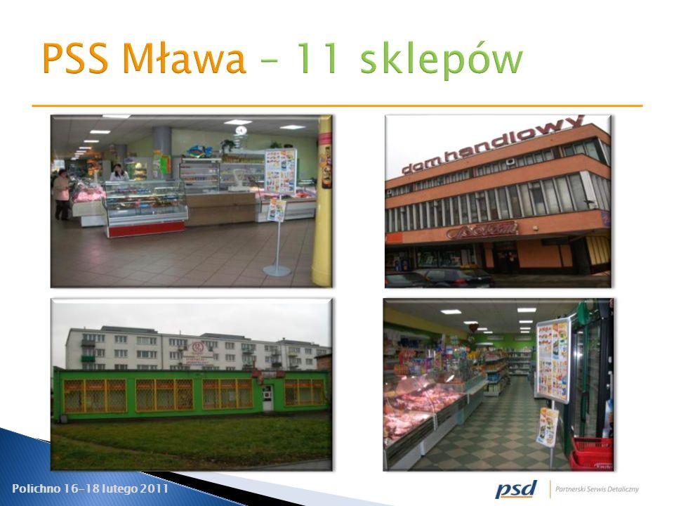 PSS Mława – 11 sklepów
