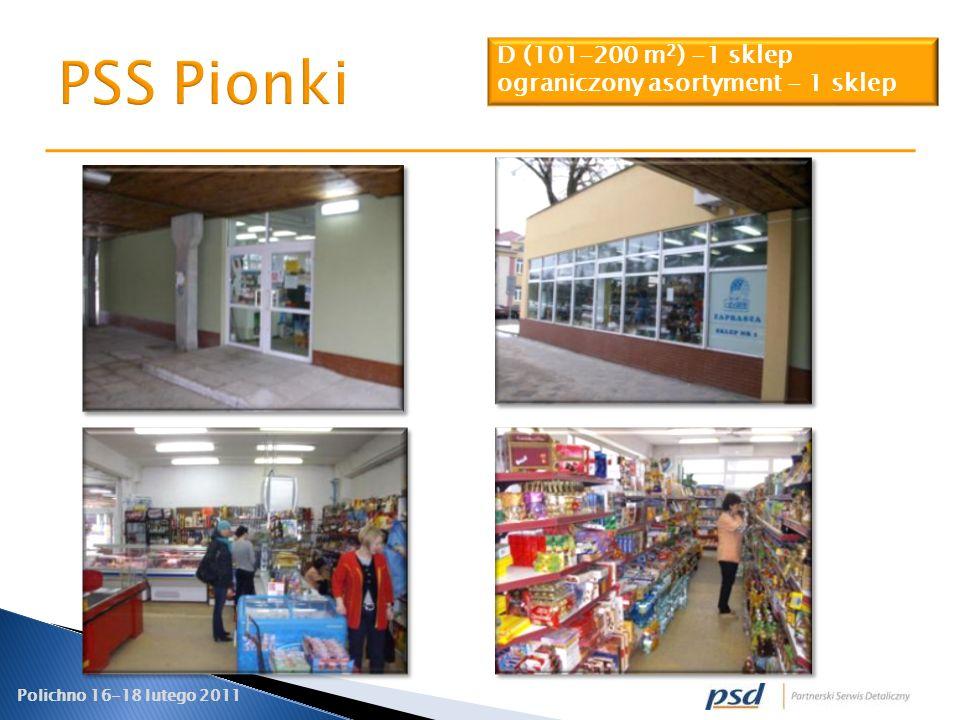 PSS Pionki D (101-200 m2) -1 sklep ograniczony asortyment - 1 sklep