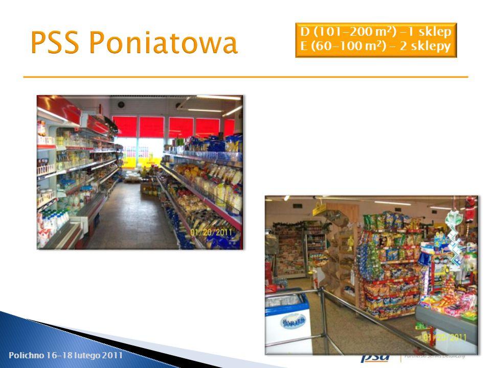 PSS Poniatowa D (101-200 m2) -1 sklep E (60-100 m2) – 2 sklepy 20
