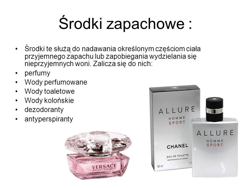 Środki zapachowe :