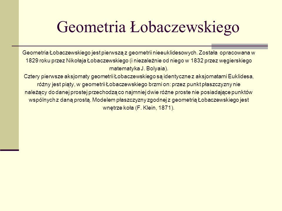 Geometria Łobaczewskiego