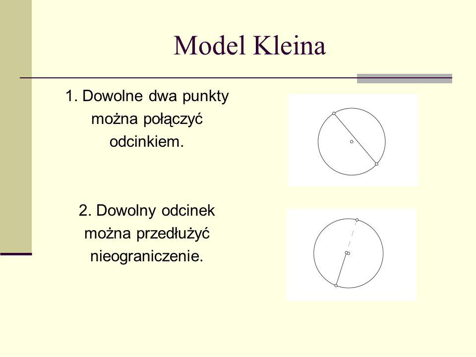 Model Kleina 1. Dowolne dwa punkty można połączyć odcinkiem.