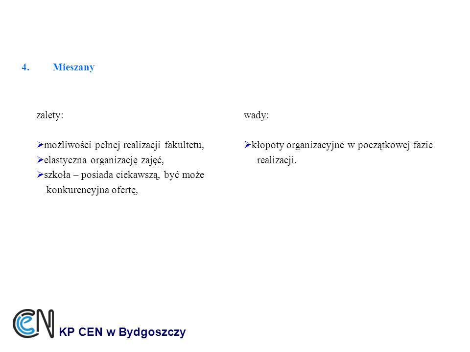 KP CEN w Bydgoszczy Mieszany zalety: