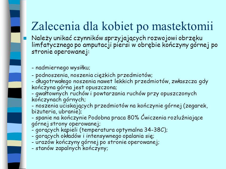 Zalecenia dla kobiet po mastektomii