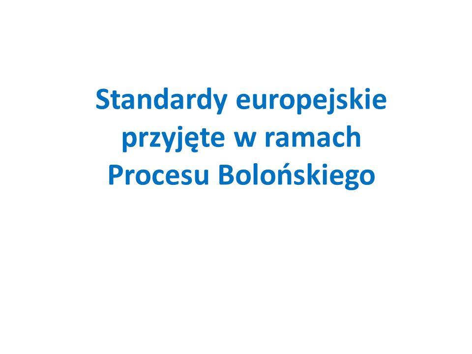 Standardy europejskie przyjęte w ramach