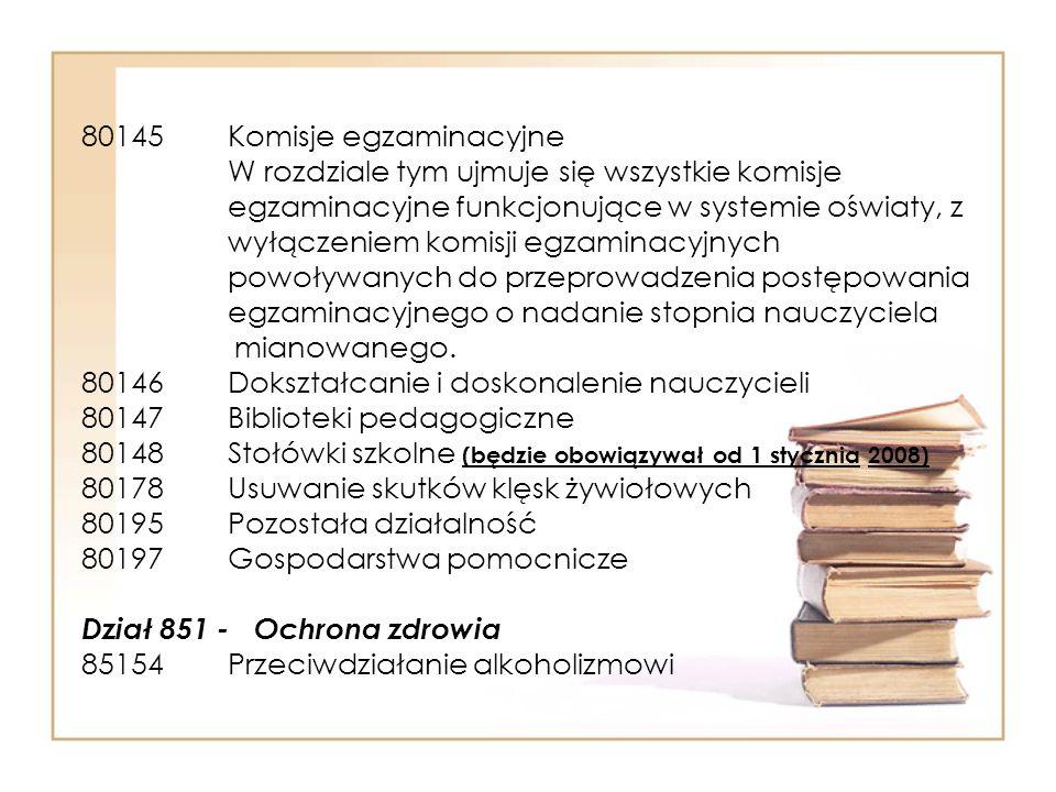 80145 Komisje egzaminacyjne