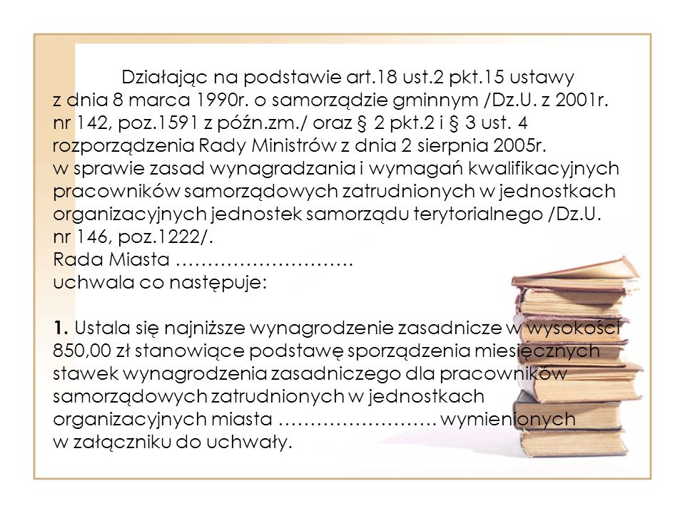Działając na podstawie art. 18 ust. 2 pkt