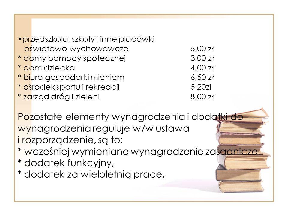 przedszkola, szkoły i inne placówki oświatowo-wychowawcze. 5,00 zł