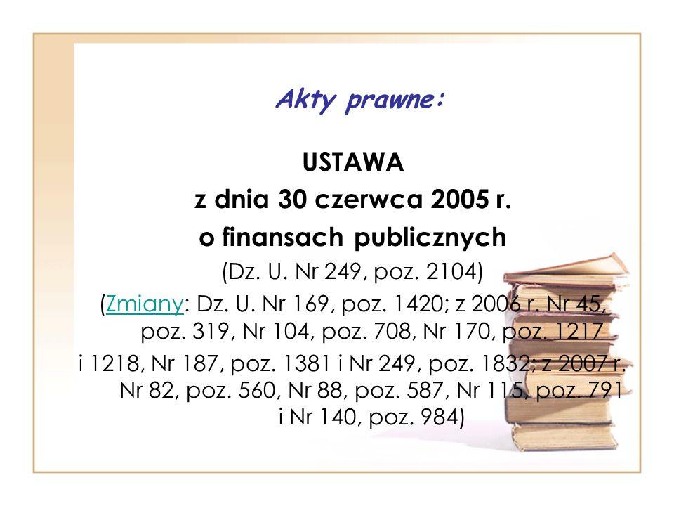 o finansach publicznych