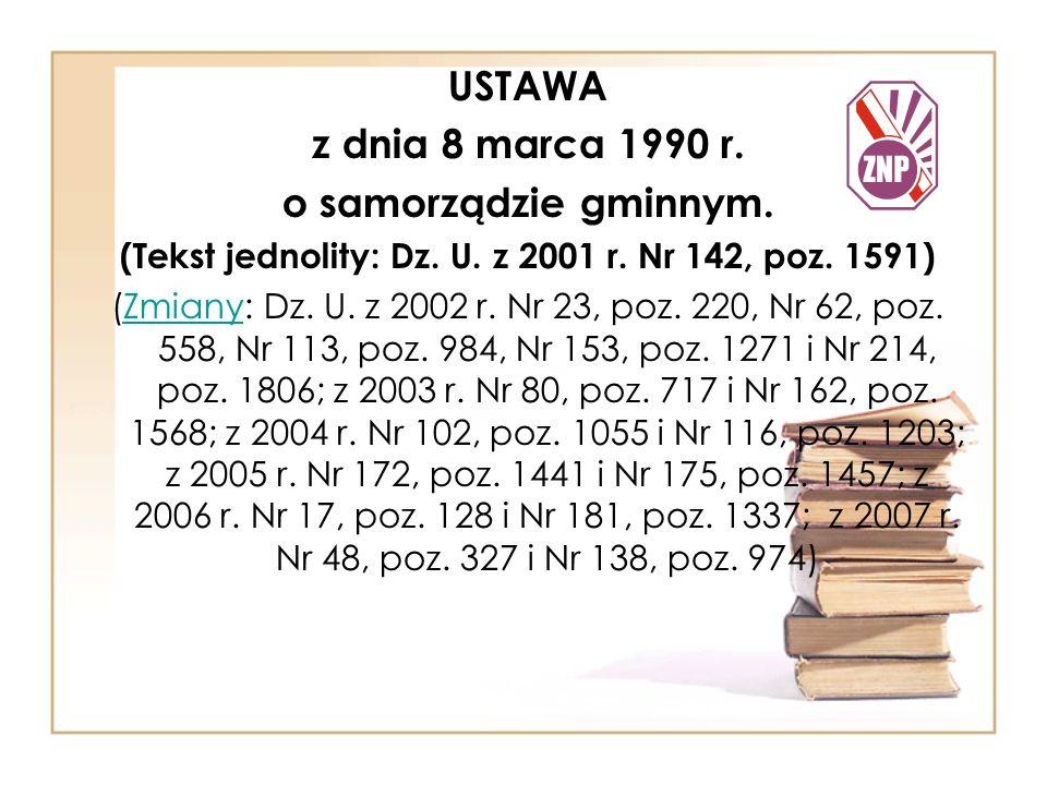 (Tekst jednolity: Dz. U. z 2001 r. Nr 142, poz. 1591)