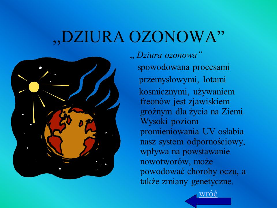 ,,DZIURA OZONOWA ,, Dziura ozonowa przemysłowymi, lotami