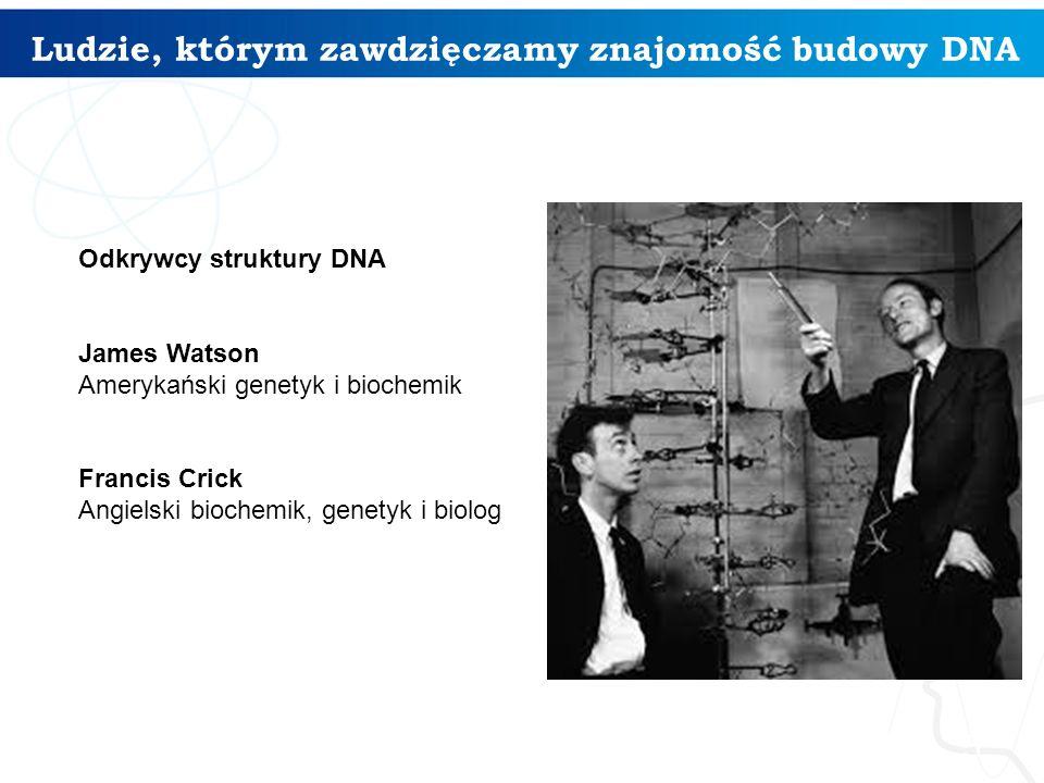 Ludzie, którym zawdzięczamy znajomość budowy DNA