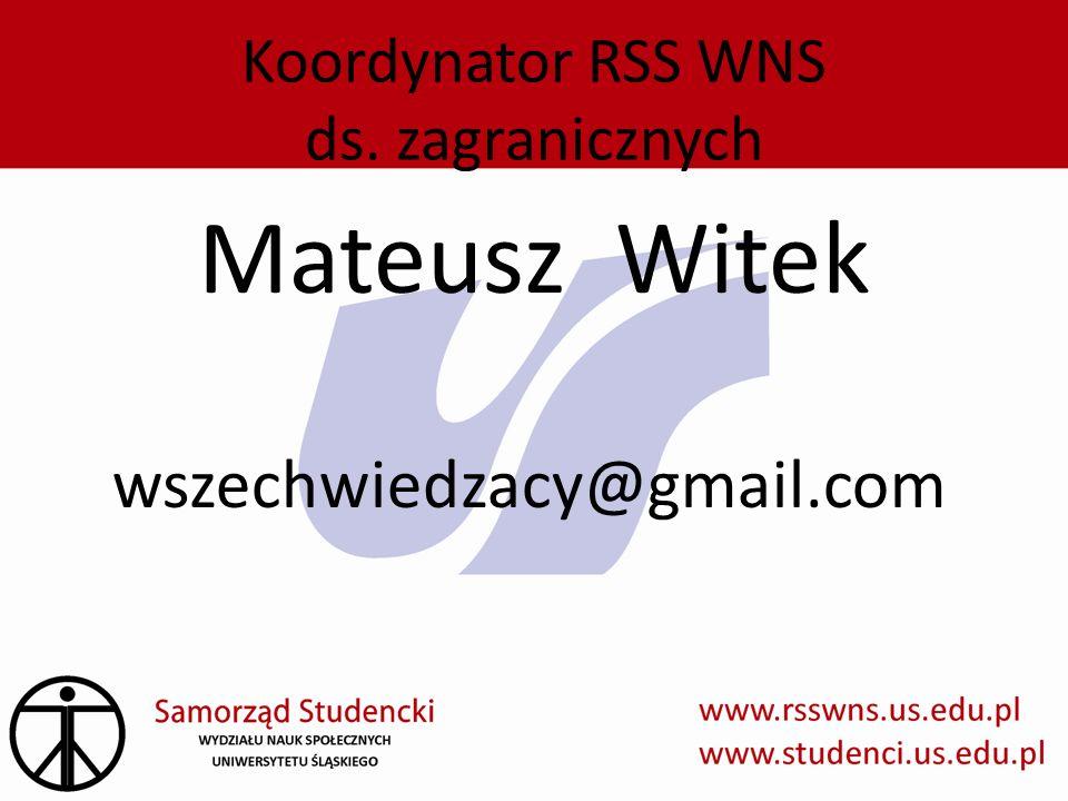 Koordynator RSS WNS ds. zagranicznych