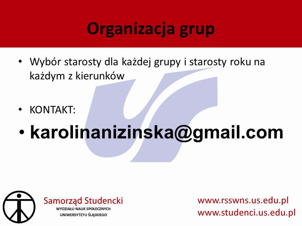 Organizacja grup karolinanizinska@gmail.com