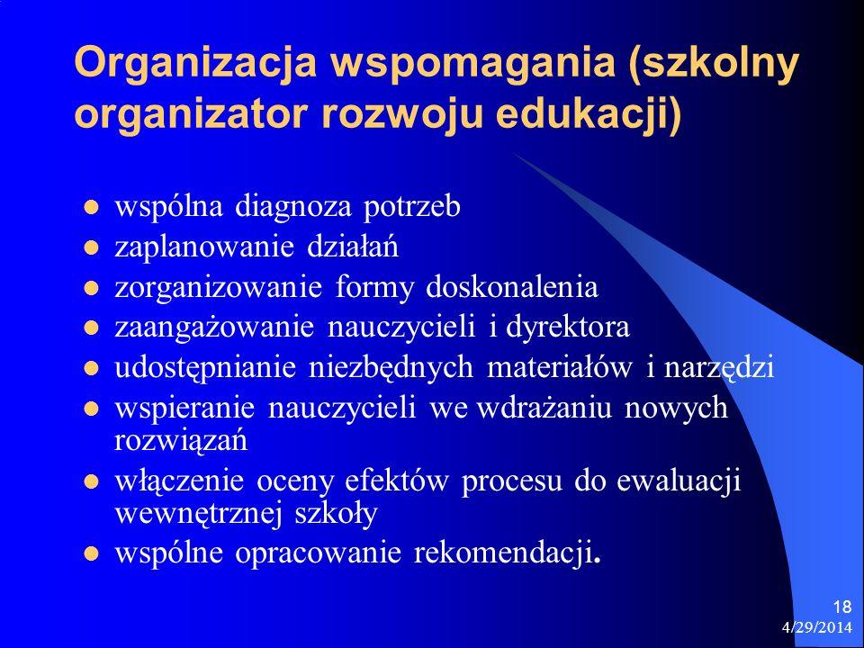 Organizacja wspomagania (szkolny organizator rozwoju edukacji)