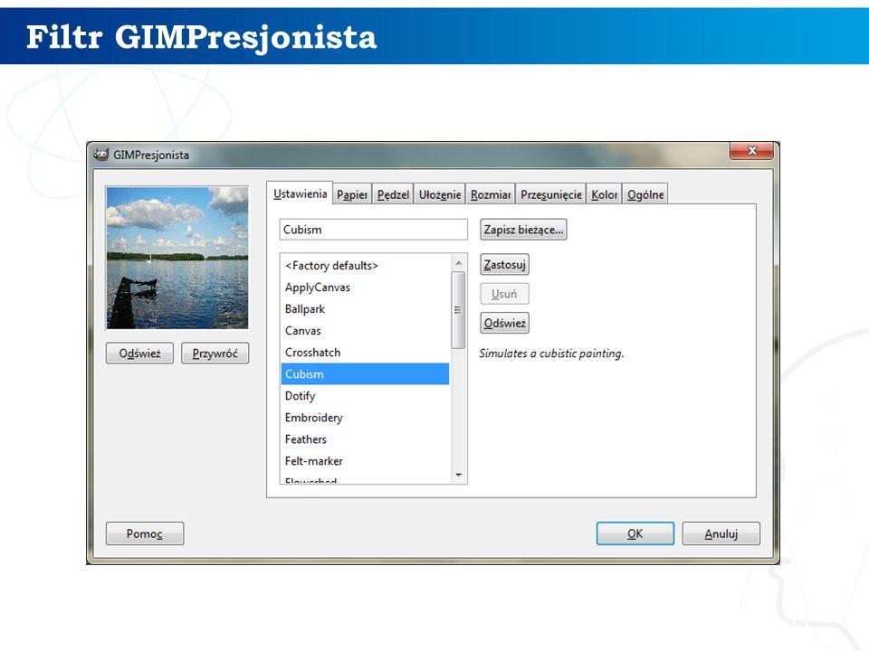 Filtr GIMPresjonista
