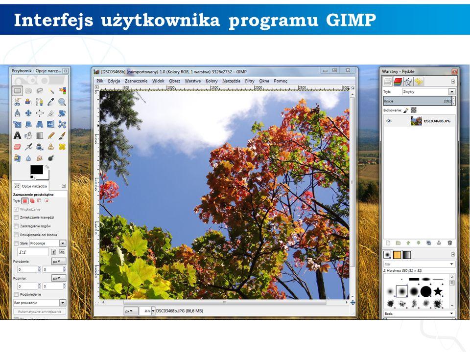 Interfejs użytkownika programu GIMP