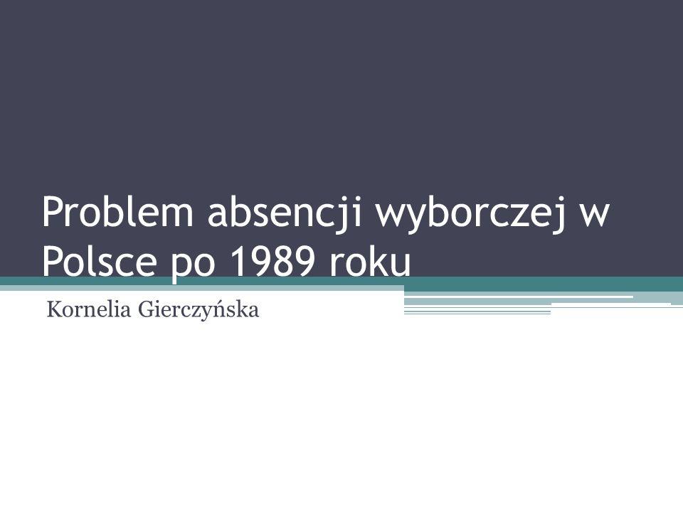 Problem absencji wyborczej w Polsce po 1989 roku