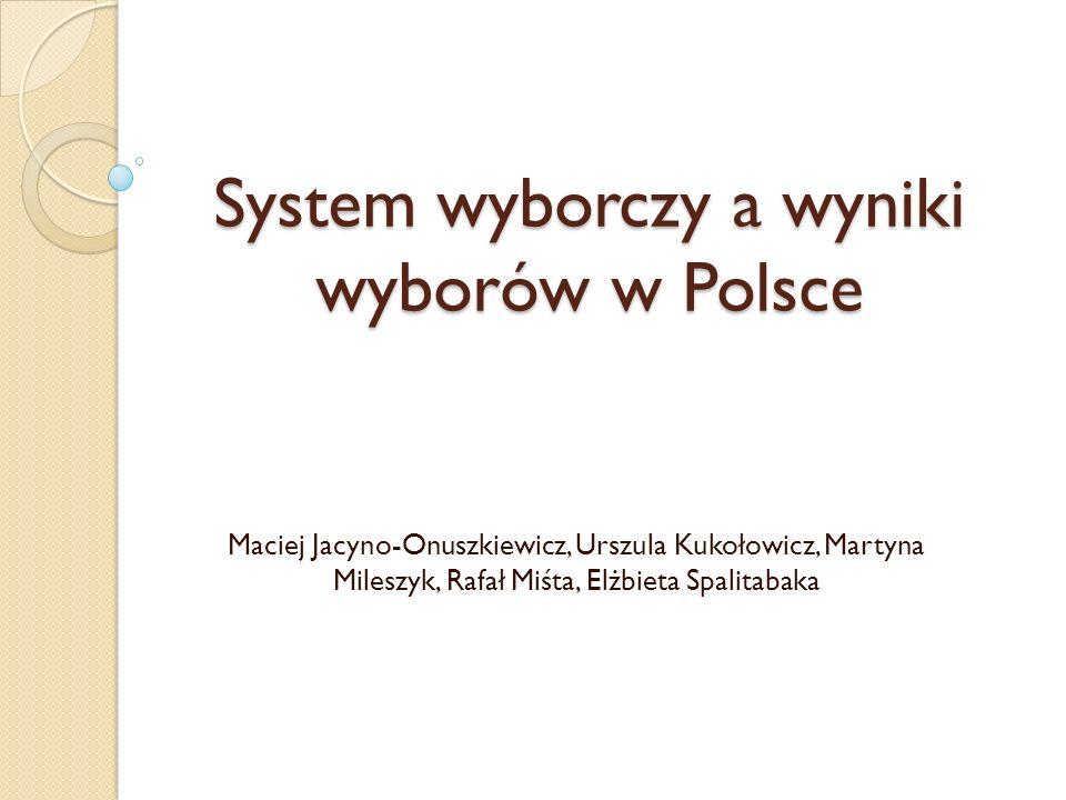 System wyborczy a wyniki wyborów w Polsce