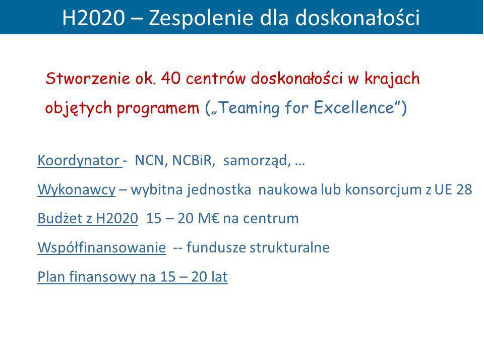 H2020 – Zespolenie dla doskonałości