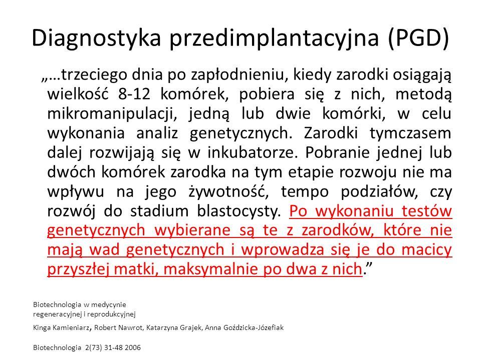 Diagnostyka przedimplantacyjna (PGD)
