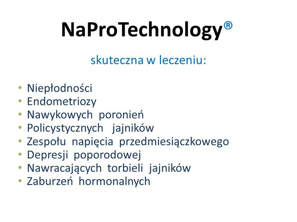 NaProTechnology® skuteczna w leczeniu: Niepłodności Endometriozy