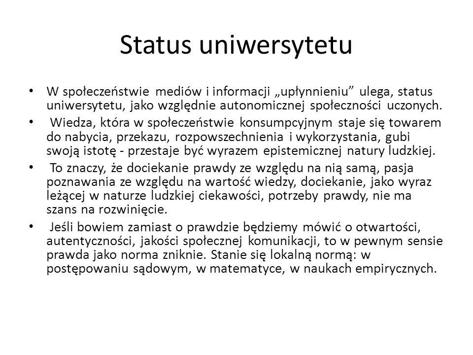 Status uniwersytetu