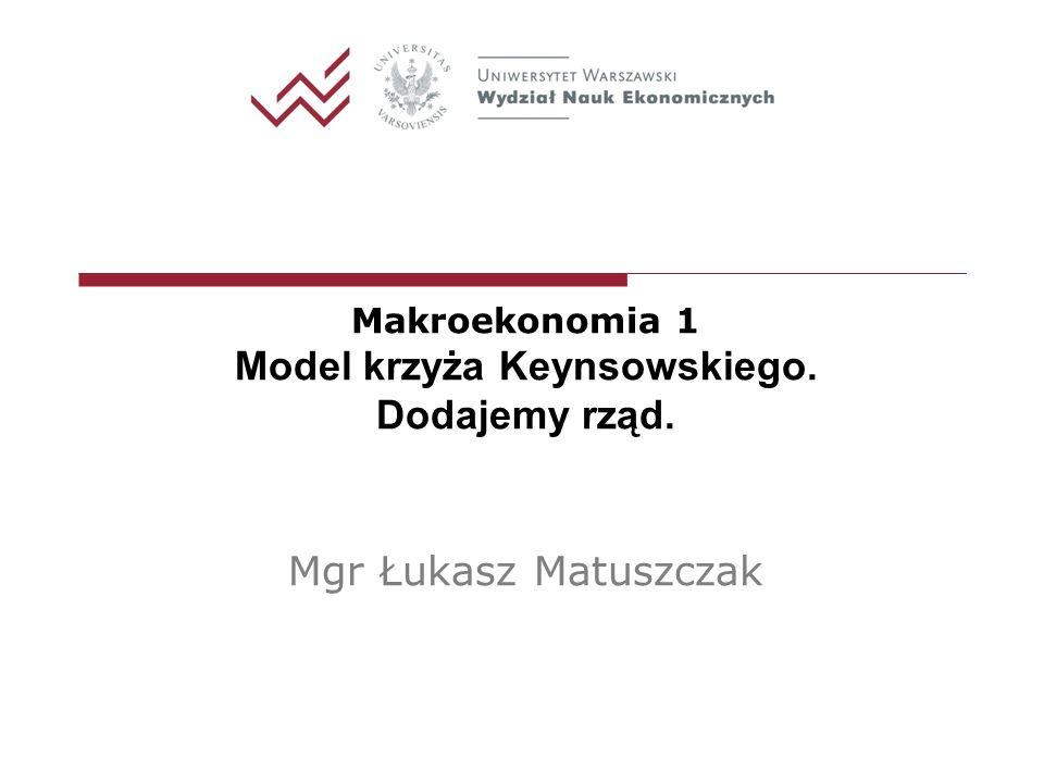Model krzyża Keynsowskiego.