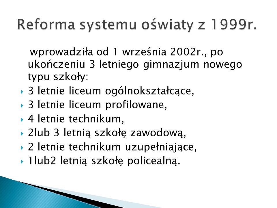 Reforma systemu oświaty z 1999r.