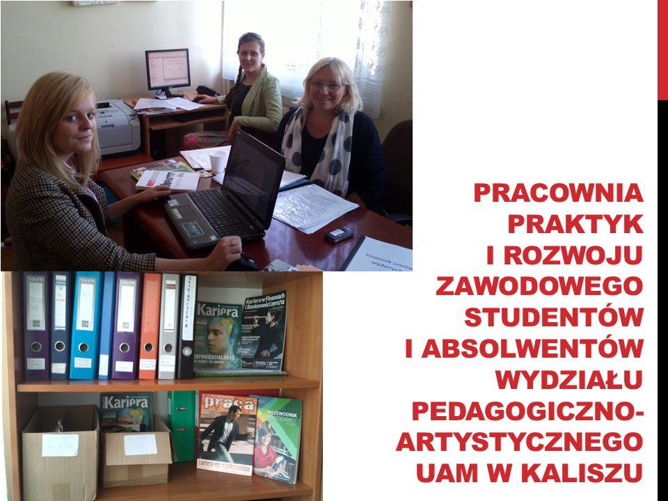 Pracownia praktyk i rozwoju zawodowego studentów i absolwentów wydziału pedagogiczno- a artystycznego uam w kaliszu