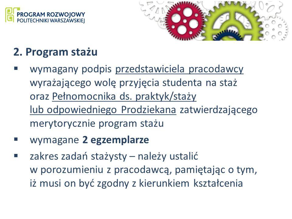 2. Program stażu