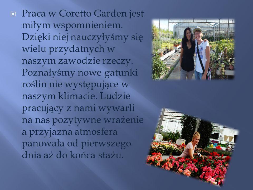 Praca w Coretto Garden jest miłym wspomnieniem