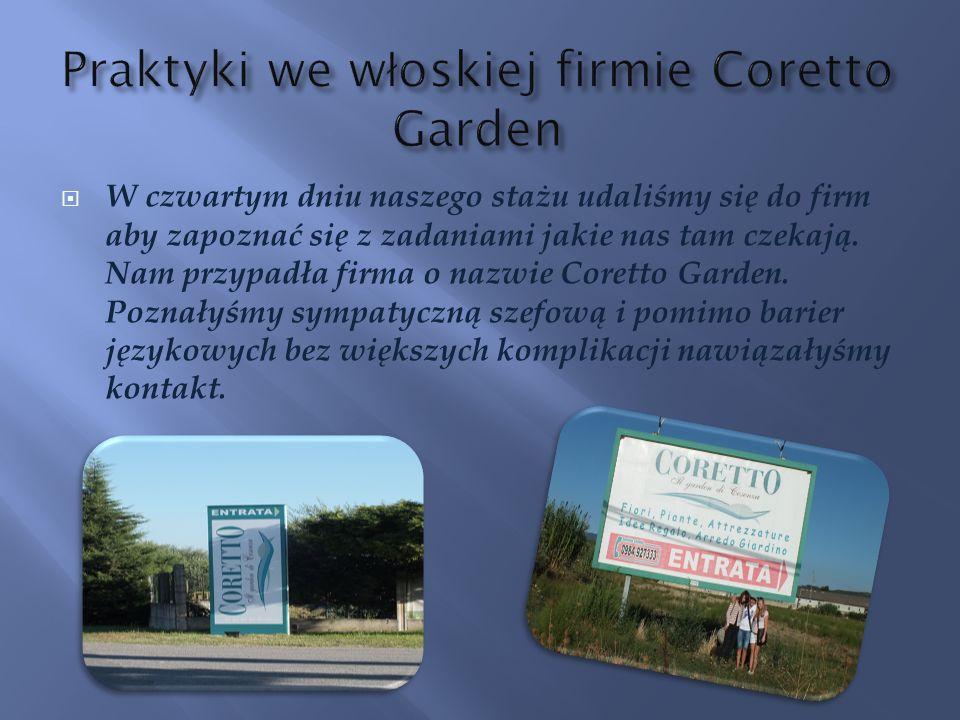 Praktyki we włoskiej firmie Coretto Garden