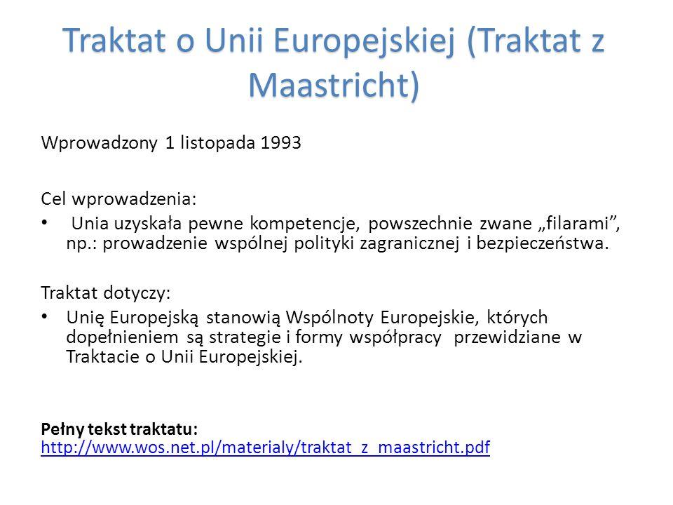 Traktat o Unii Europejskiej (Traktat z Maastricht)