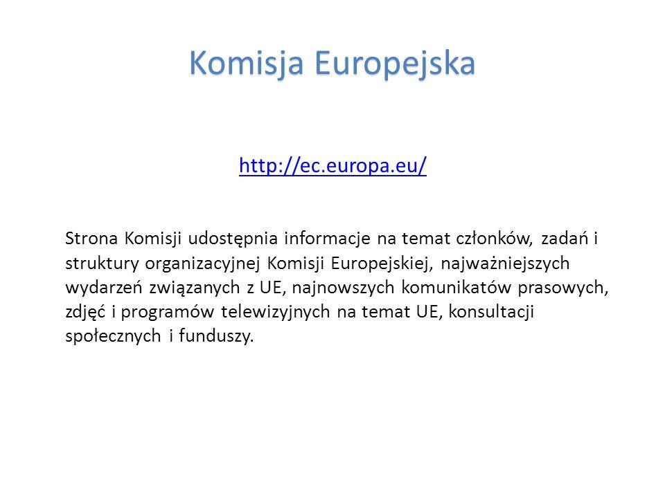 Komisja Europejska http://ec.europa.eu/
