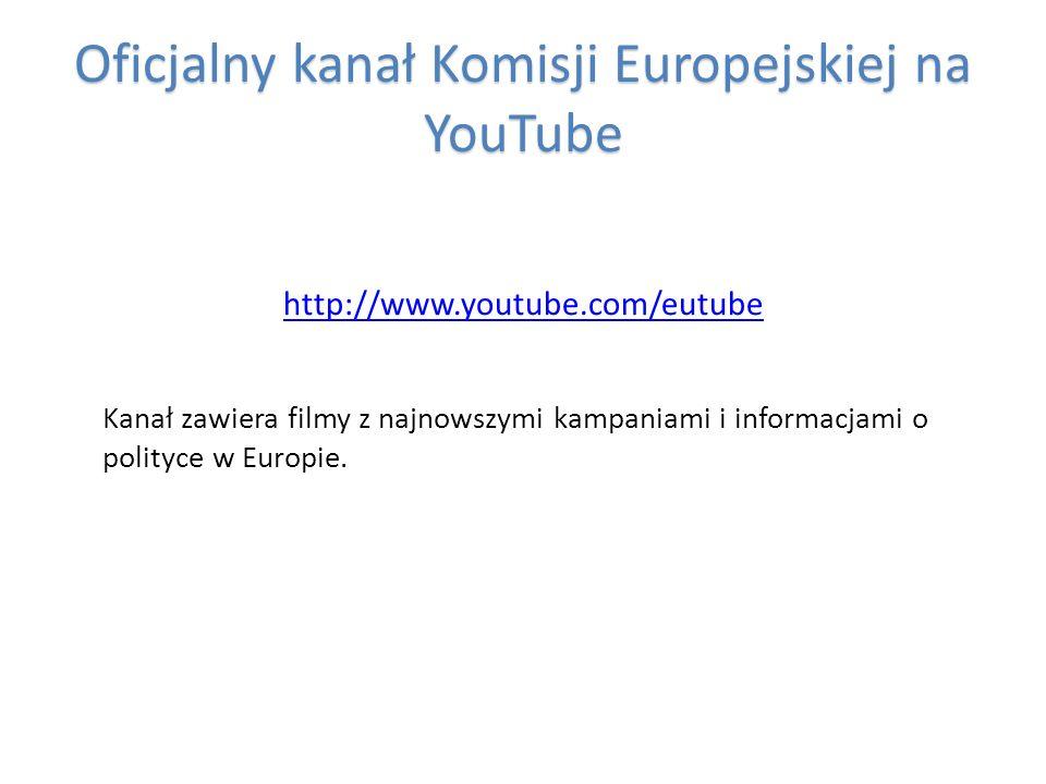 Oficjalny kanał Komisji Europejskiej na YouTube