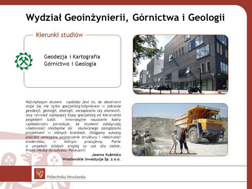Wydział Geoinżynierii, Górnictwa i Geologii