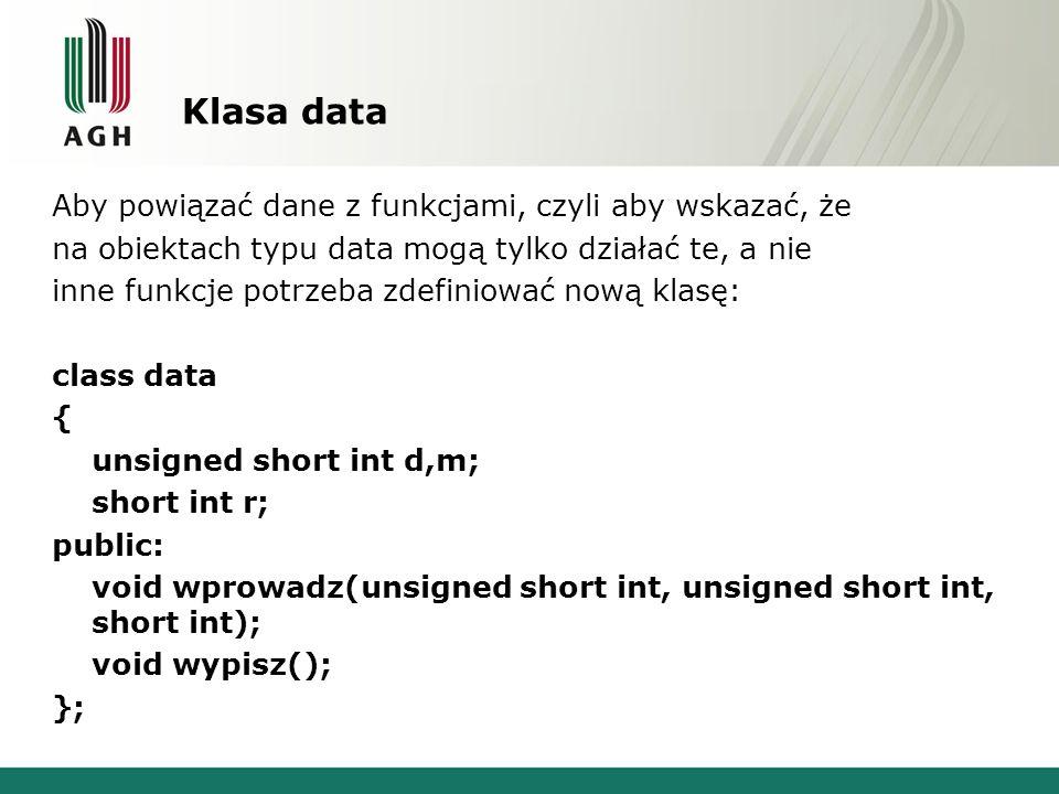 Klasa data