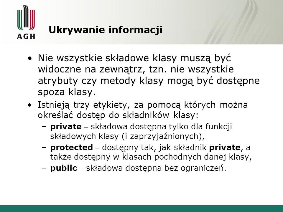 Ukrywanie informacji