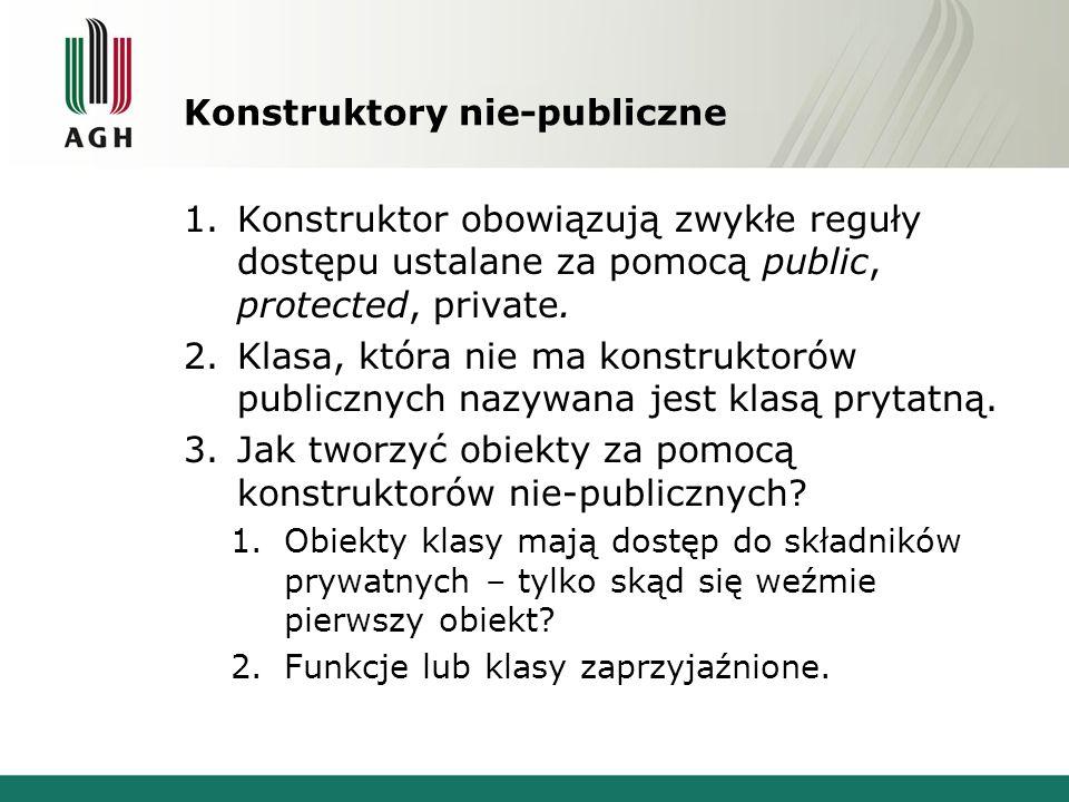 Konstruktory nie-publiczne