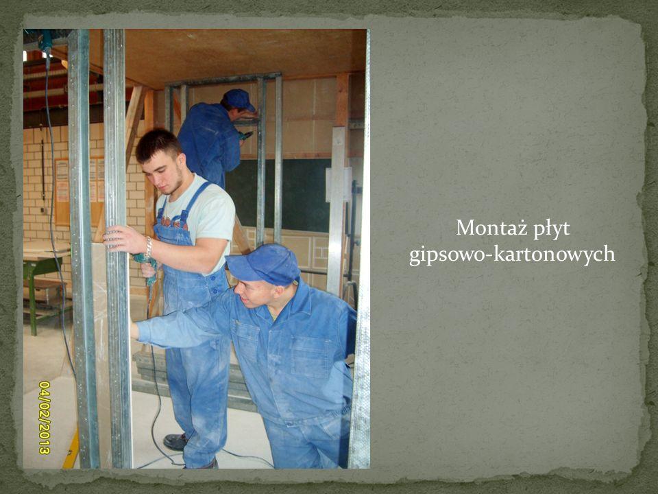 Montaż płyt gipsowo-kartonowych
