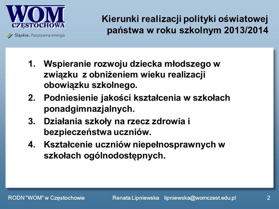 Kierunki realizacji polityki oświatowej państwa w roku szkolnym 2013/2014