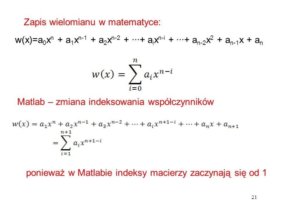 Zapis wielomianu w matematyce: